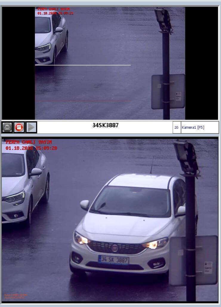 Plaka Tanıma Kamerası Görüntü Ekranı